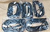 Lot of 5 Flat Black 25' Ft Handset Cords for Avaya 1400 and 1600 Series IP Office Phone with 6'' Tail/Lead / Leader 1403 1408 1416 1603 1608 1616 1616i LONG (5-Pack) by DIY-BizPhones