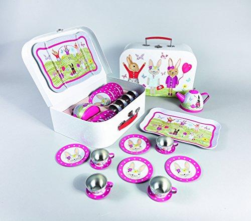 Floss & Rock Bunny Rabbit 15 Piece Play Tin Tea Set - Disney Cosplay Costumes Uk