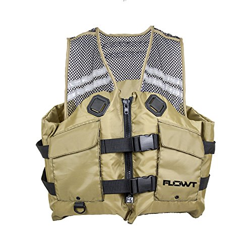 Flowt 40626-2X/3X Mesh Fishing Adult Life Vest Type III PFD, Tan, 2X Large / 3X Large ()