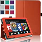 Kindle Fire 1st & 2nd Generation Cover Case - HOTCOOL Slim New PU Leather Case For Amazon Original Kindle Fire 2011 (Previous Generation - 1st) And Kindle Fire 2012 (Previous Generation - 2nd) Tablet(Will not fit HD or HDX models), Orange