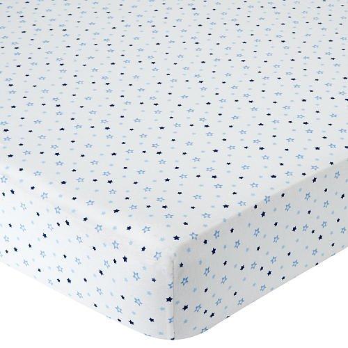 Babies R Us Knit Crib Sheet - Blue Star
