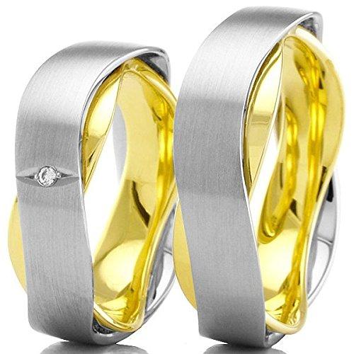 Anillos de boda 500 / - paladio 333 / - oro R-10-51091