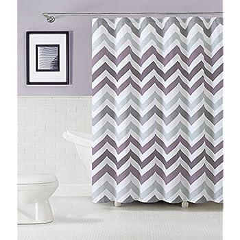 Grey And White Chevron Shower Curtain. GoodGram  Chevron Cotton Fabric Shower Curtain Assorted Colors Plum Amazon com