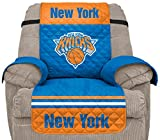 Pegasus Sports NBA New York Knicks Unisex Nbanba Furniture Protector with Elastic Straps, Blue, Recliner