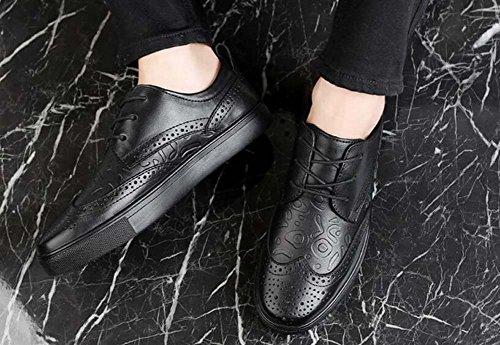 Scarpe Fashion Casual New Uomo British nero Traspiranti Summer Big Size Scarpe da r6axBqr