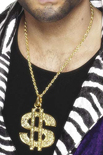 Smiffy's Dollar Sign Medallion On Chain - Gold