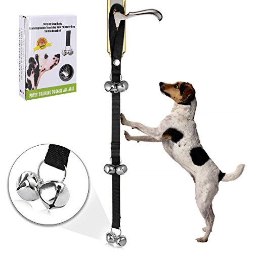 Petime Dog Potty Training Doorbell Housetraining Tinkle Bell for Pet Hanging Doorbell