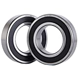 XiKe 2 Pack 6210-2RS Bearings 50x90x20mm, Stable Performance and Cost-Effective, Double Seal and Pre-Lubricated, Deep Groove Ball Bearings.