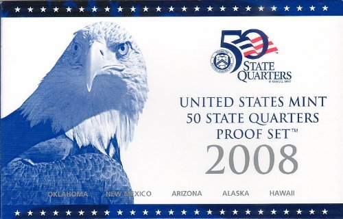 2008 S US Mint Quarters Proof Set OGP