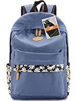 Leaper Casual Style Canvas Laptop Backpack School Bag Travel Daypack Handbag