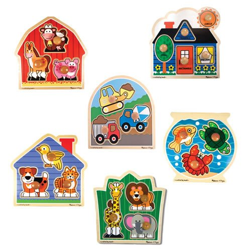 Melissa & Doug Jumbo Knob Puzzle Set