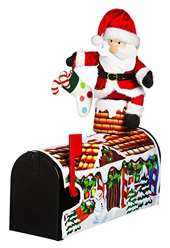18'' Santa Visiting Magnetic Mailbox Cover by Evergreen Enterprises, Inc