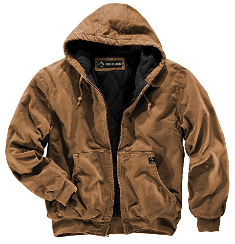 DRI Duck Men's 5020 Cheyenne Hooded Work Jacket, Saddle, Large