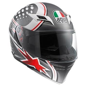 AGV Skyline Psyco motocicleta casco blanco/gris/rojo