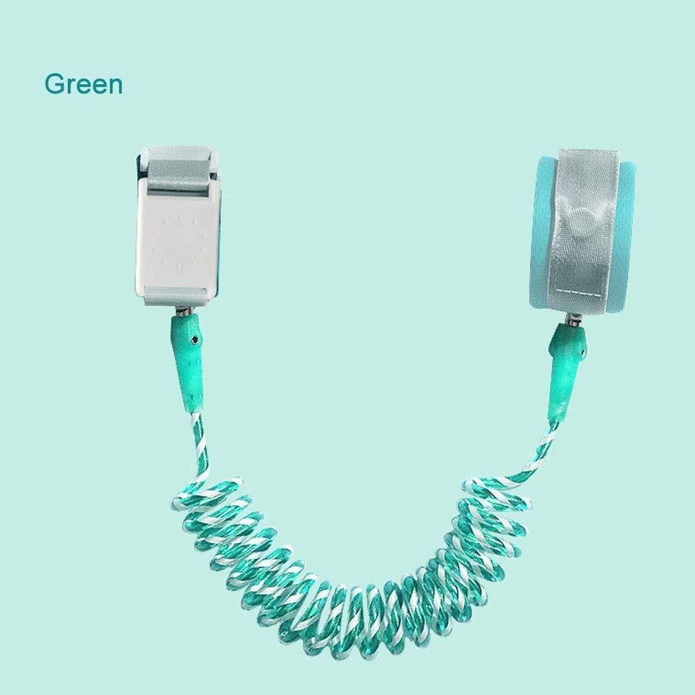 Children's Anti-Lost Rope with Safety Lock Outdoor Anti-Lost Rope (Color : Green, Size : 2.5m)
