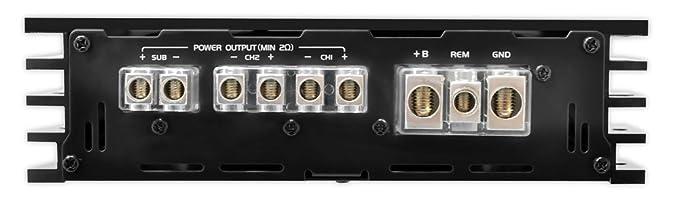 Pyle PLBA330FRD - Amplificador de 4400 W, 3 canal compacto ...