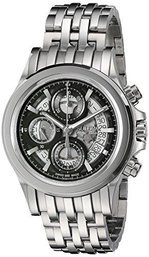 Bulova-Mens-Kirkwood-Swiss-Automatic-Stainless-Steel-Casual-Watch-Model-63B170