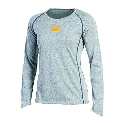 NCAA Champion Women's Long sleeve Crew Neck Raglan T-Shirt, California Golden Bears, Medium, Gray Heather