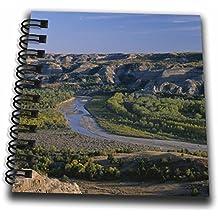 3dRose Danita Delimont - Rivers - North Dakota, Theodore Roosevelt NP, Valley of Little Missouri River. - Mini Notepad 4 x 4 inch (db_279275_3)