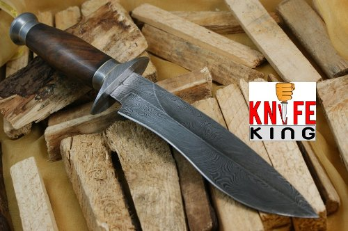 Knife King Cobra Damascus Handmade Bowie Hunting Knife. Comes with a - King Folding Knife