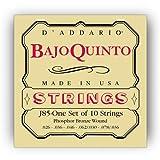 D\'Addario J85 Phosphor Bronze Bajo Quinto Strings,10 string