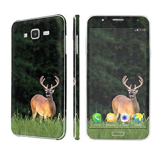 [Galaxy J7] Skin [NakedShield] Scratch Guard Vinyl Skin Decal [Full Body Edge] [Matching WallPaper] - [Deer Hunting] for Samsung [Galaxy J7 / J700H (2015)]