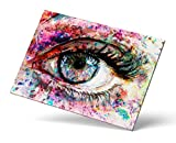 Castle & Rye Vivid Colorful Close Up Eye Iris Art Giclee Print for Living Room or Bedroom with Thick Wooden Frame and Pre-Applied Hanging Hardware Ready to Hang