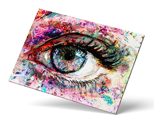 Castle & Rye Vivid Colorful Close Up Eye Iris Art Giclee Print for Living Room or Bedroom with Thick Wooden Frame and Pre-Applied Hanging Hardware Ready to Hang by Castle & Rye