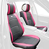 FH Group PU205PINK102 PU205102 Ultra Comfort Leatherette Front Seat Cushions (Airbag Compatible) Pink