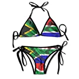 Aiw Wfdnn South Africa Flag Women Boho Adjustable Swimsuit Bikini Set