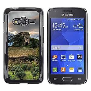 TopCaseStore / la caja del caucho duro de la cubierta de protección de la piel - Nature Beautiful Forrest Green 138 - Samsung Galaxy Ace 4 G313 SM-G313F
