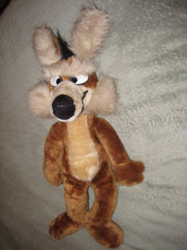Vintage 1971 Warner Brothers Wile E Coyote Mighty Star 19 Inch Plush Stuffed Animal