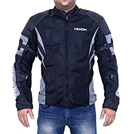 Damn Dd Ddle 0121 Venom Burnout All Season Mesh Motorcycle Riding Jacket (Grey, XXL)