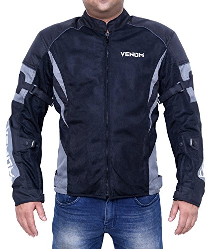 Damn Dd Ddle 0121 Venom Burnout All Season Mesh Motorcycle Riding Jacket (Grey, XXL)