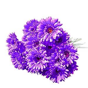 Toifucos 10x Silk Gerbera Daisy Artificial Flowers Bouquet Home Wedding Decoration 52