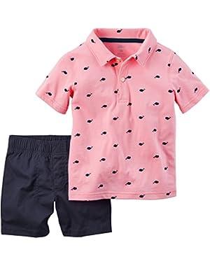 2 Piece Playwear Set (Baby) - Pink - 6 Months