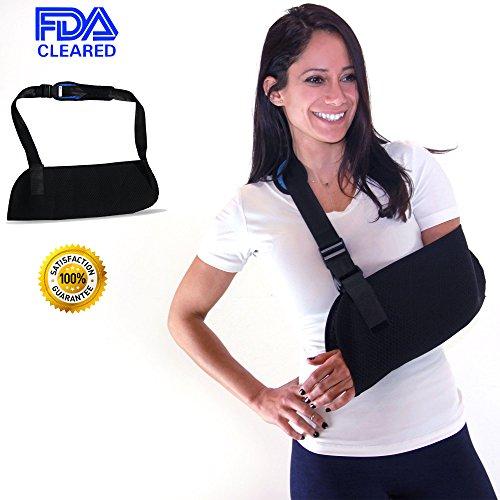 Everyday Medical Adjustable Arm Sling Support for Womens/Mens Shoulder Immobilizer with Adjustable Split Strap Neoprene Arm Sling Good for Treats Injured Arm, Wrist, Elbow, Shoulder, Etc (Arm Sling Padded)