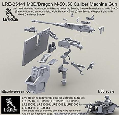 amazon com live resin 1 35 m3d dragon m 50 50 cal machine gun on