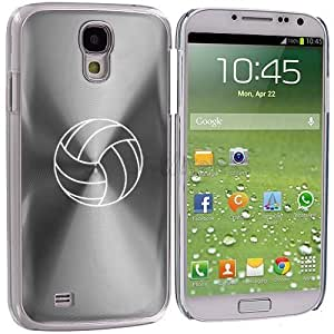 Samsung Galaxy S4 S IV Aluminum Plated Hard Back Case Cover Volleyball (Silver)