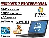 2017 Edition ~ Dell Inspiron 15 3000 i3558 Laptop ~ Intel Core i3-5005U Processor ~ 4GB RAM ~ 500GB HDD ~ DVDRW ~ WiFi + Bluetooth ~ Windows 7 Professional.