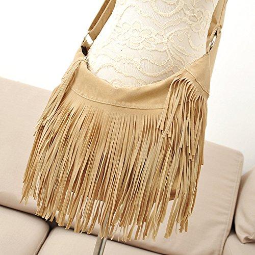 Vendita Speciale! Borse Moda, Borsa Donna Tracolla In Pelle Scamosciata Hobo Stile Hippie Con Tracolla.