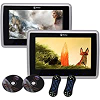 Dual 10.1 Inch Auto Monitor Car Headrest DVD Player LCD Screen With HDMI USB IR FM Transmitter Support?USB/SD Included Remote Control