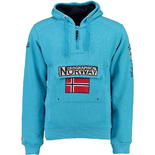 007 Norvegia turchese Blu Felpa Culo Geografica Uomo Sp201h Gymclass A HaxfYPqU