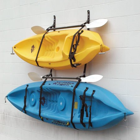 Webbing Boat Hanger Strap - Set of 2, kayak wall hanger, SUP wall hanger, kayak hanger, canoe hanger, surfboard hanger, garage hanger, kayak wall rack hanger adjustable
