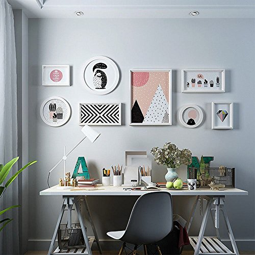 DIDIDD Solid Wood Photo Wall Living Room Decorative Painting Modern Simple Mural Assassination Hanging Restaurant Sofa Background Wall Painting,D