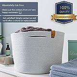 Large Cotton Rope Basket for Storage – Decorative