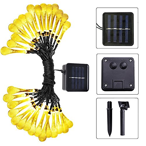 Dosens Solar String Lights Garden Lights With 30 LED Lights For Garden Decoration 20ft Waterproof Teardrop Solar Light