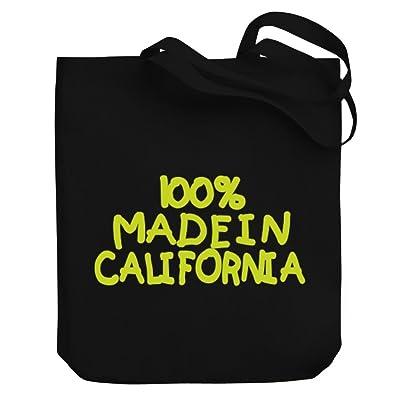 Teeburon 100 MADE IN California Canvas Tote Bag