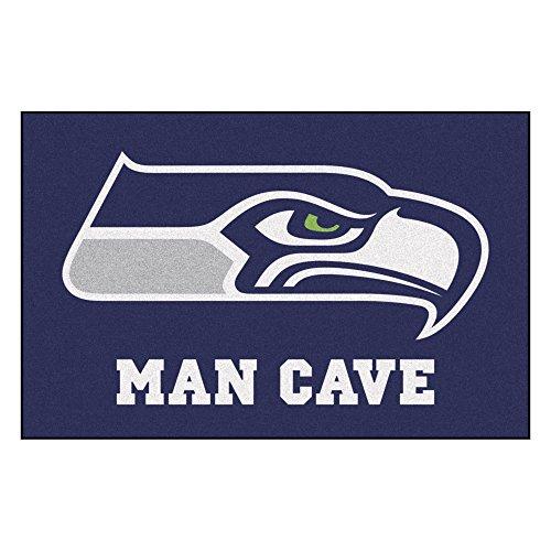 - FANMATS 14369 NFL Seattle Seahawks Nylon Universal Man Cave Starter Rug