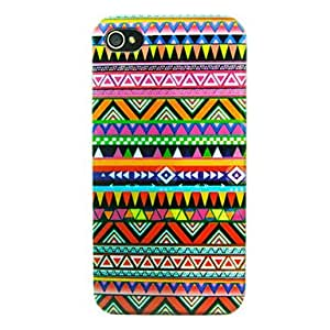 WQQ National Style Pattern Back Case for iPhone 4/4S